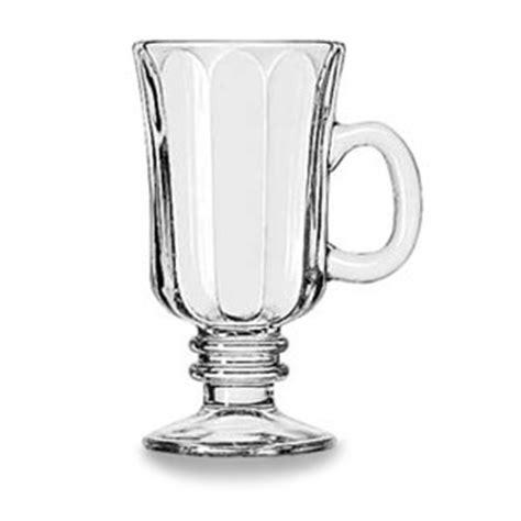 irish barware libbey 8 25 oz irish coffee mug clear 5294