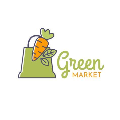 green supermarket logo  vector