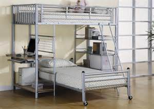 Affordable metal loft bunk bed twin upper and twin lower bed