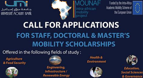 Mba Scholarships 2018 South Africa by Mounaf Mobilit 233 Universitaire En Afrique Staff Master S