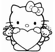 Hello Kitty Head Coloring Pages Which Has A Nice Impression With