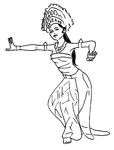 Balinese Dancer Sketches  by nakbali on DeviantArt