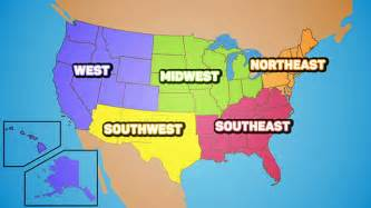 us map by 5 regions united states mr s class