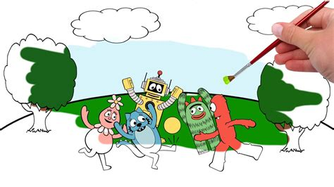 gabba gabba gabba yo gabba gabba coloring pages coloring pages
