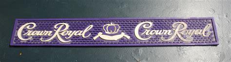 Crown Royal Bar Mat by Bar Mats Bar Signs Plus