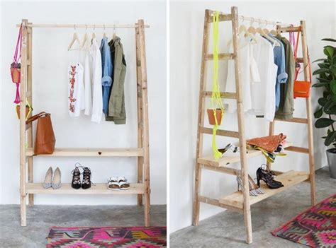 handmade wardrobe with shelves for upcycled ladder shelves and creative display ideas