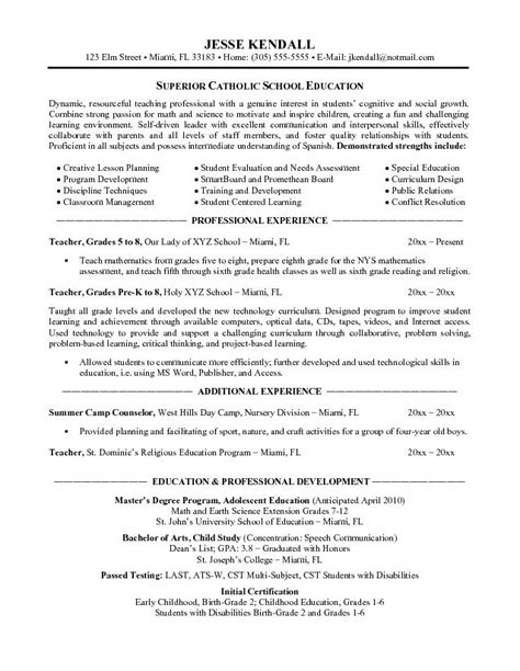 Sle Elementary Resume by School Resume Sales Lewesmr