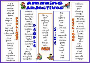 Adjective list worksheet in addition what is verb infinitive or ing