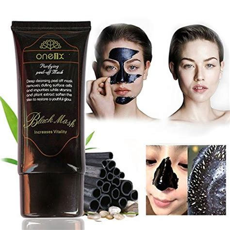 One1x Purifying Peel Mask Black Mask 1 one1x activated charcoal black mask