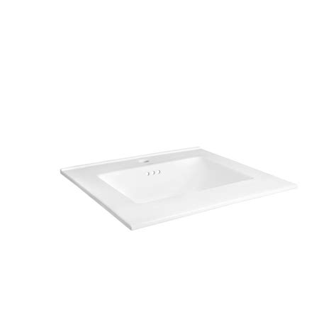Ronbow Vanity Top by Ronbow Essentials Kara 25 In W Ceramic Vanity Top In