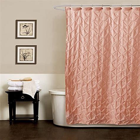 peach drapes noelle pintuck shower curtains in peach bed bath beyond