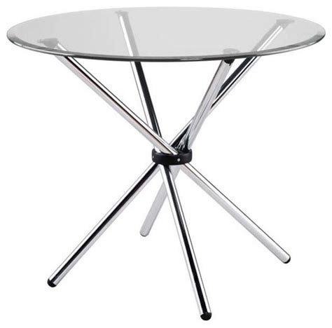 Floor And Decor Tempe by Eurostyle Hydra 36 Inch Round Glass Dining Table W