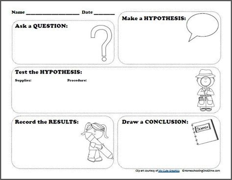 free scientific method worksheet for kid