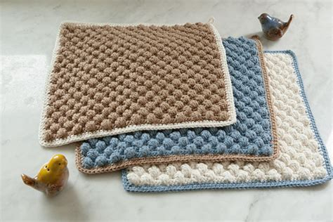 crochet washcloth instructions bobble crocheted washcloth knitting patterns and crochet patterns from knitpicks by edited