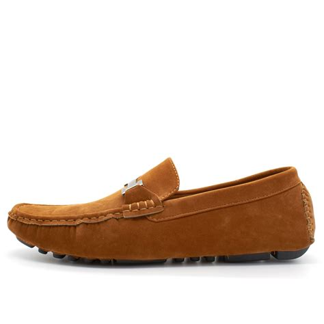 uk loafers mens faux suede casual loafers moccasins slip on driving