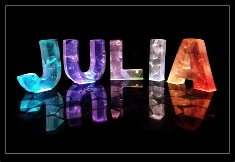 Design Your Own Home Wallpaper by The Name Julia In 3d Coloured Lights