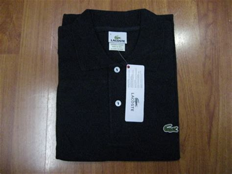 Polo Shirt Black Tide Original t shirts lacoste polo shirt quot black quot x large was sold