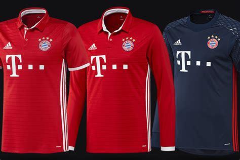 Jersey Bayern Munchen Pre Match 2016 2017 official fc bayern munich 2016 17 home kit w collars released bavarian football works