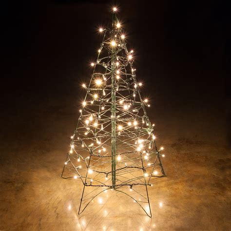 Lighted Warm White Led Outdoor Christmas Tree Outdoor Lighted