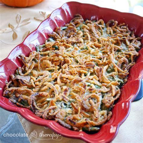 chocolate therapy sherried mushroom green bean casserole