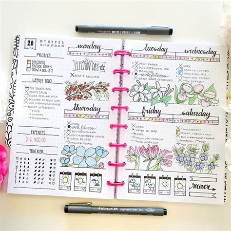 layout design for journal 24 pretty bullet journals to inspire your own design
