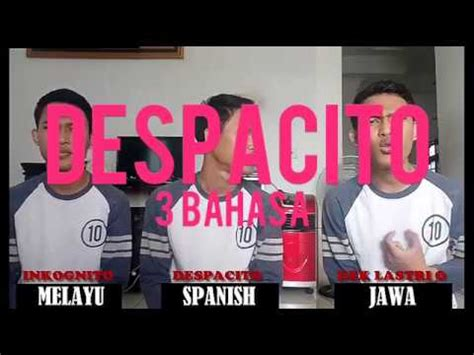 despacito bahasa jawa irfan bahari despacito cover 3 bahasa 3 language