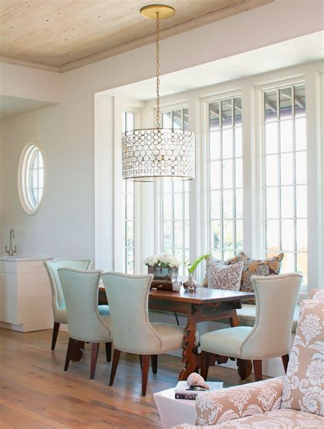 drum shade chandelier   dining rooms