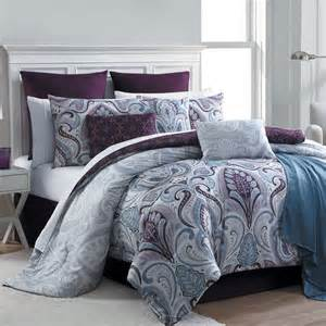 bed comforter sets essential home 16 complete bed set bedrose plum
