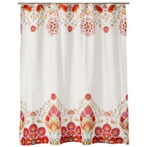 orange shower curtain target mudhut tamerin shower curtain orange light cream http