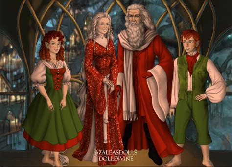 santa claus mrs claus and elves by menolikee on deviantart
