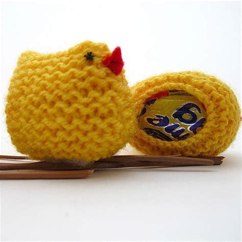 knitting pattern easter chick creme egg knitted easter chick egg cover by edamay