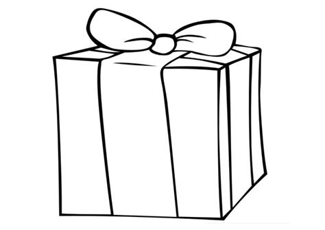 gift coloring page ribbon gift boxes coloring pages