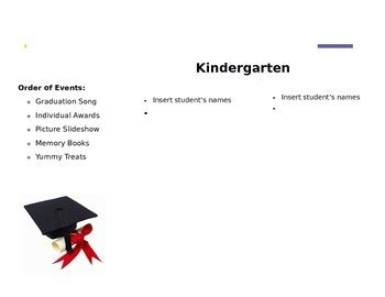 Kindergarten Graduation Program Editable By Lindsey Powers Tpt Preschool Graduation Program Template 2