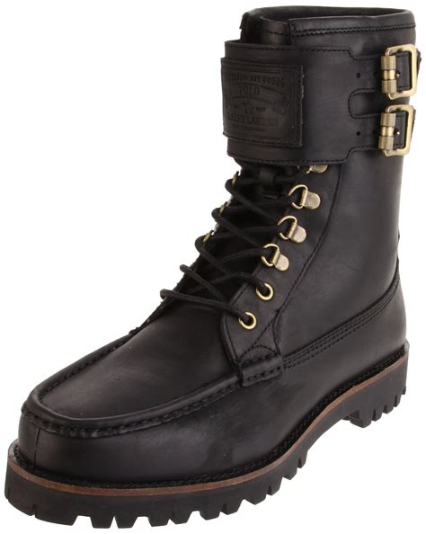 polo ralph mens wolcott hiking boot in black for