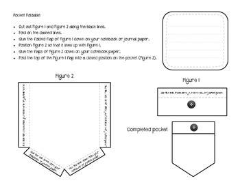 Interactive Notebook Vocabulary Pocket Templates By Jodi S Jewels Interactive Notes Template