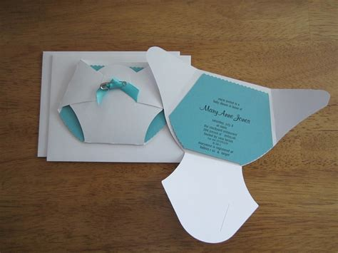 Handmade Baby Shower Invites - handmade baby shower invitation