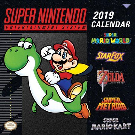 Super Nintendo Entertainment System 2019 Wall Calendar