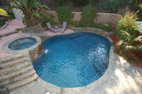 Backyard Designs With Inground Pools Gorgeous Pool With Raised Spa Awesome Inground Pool