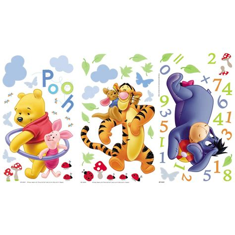 winnie the pooh stickers for walls winnie the pooh numbers wall stickers brand new ebay