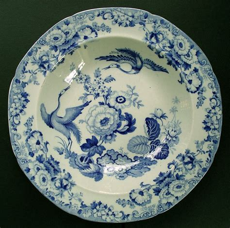 blue pattern crockery fine staffordshire hicks and meigh stone china exotic