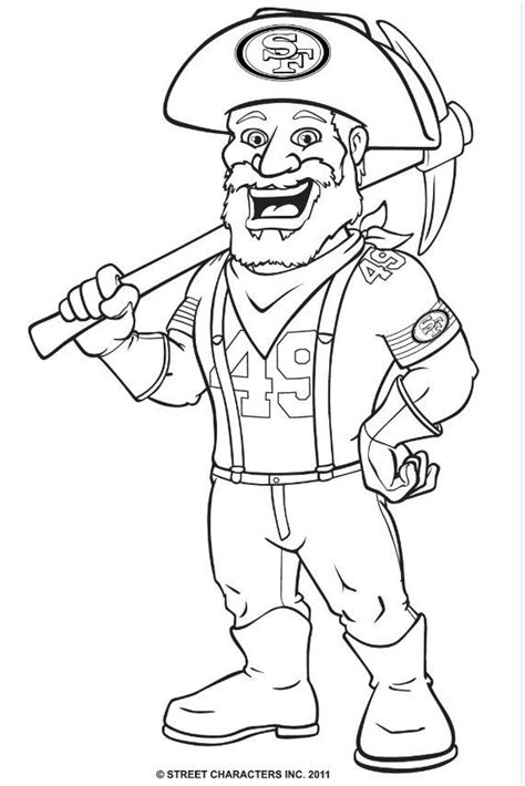 Coloring Pages Nfl Mascots | nfl mascot coloring pages az coloring pages