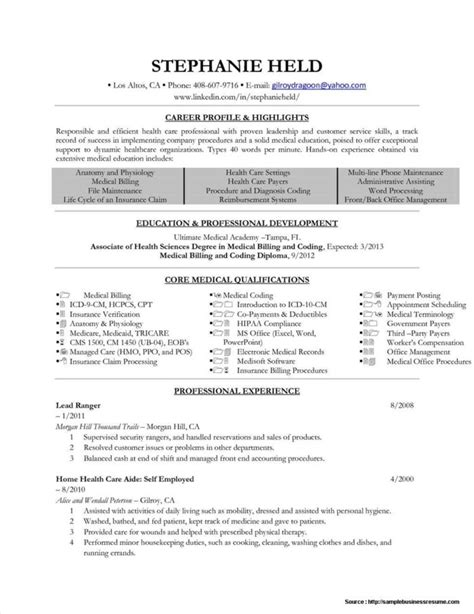 medical billing and coding specialist resume example medical medical
