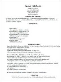 sample professional nanny resume 2 - Nanny Resumes Examples