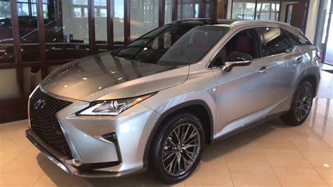 lexus rx 350 atomic atomic silver 2017 rx350 f sport panoramic sunroof youtube