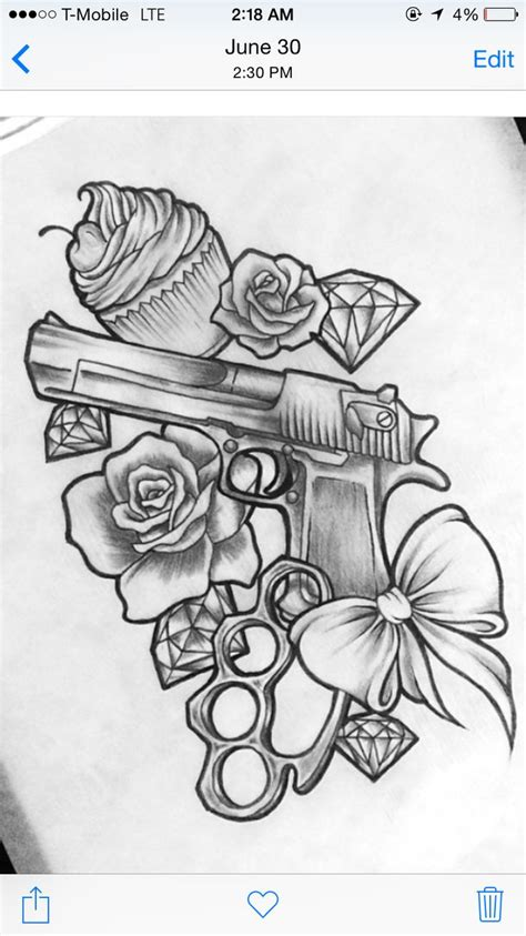 gangster rose tattoo best 25 gun tattoos ideas on pistol gun