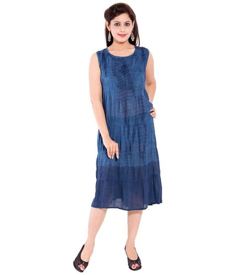 Blue Sorry With Stripe Sml Dress buy sml originals blue rayon dresses at best prices in india snapdeal