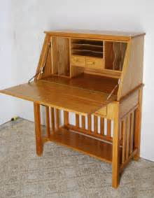Secretarys Desk Oak Desk De Vries Woodcrafters