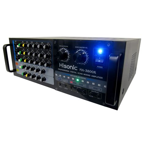 hisonic ma 3800k 760w karaoke mixing lifier