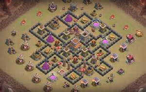 Th8 anti 3 star war base with bomb tower th8 war base bomb tower