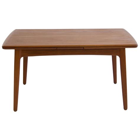 dining room table with leaf svend madsen teak draw leaf dining table at 1stdibs